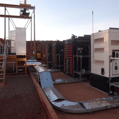 Australia Remote Construction Project diesel generator