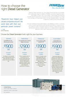 Overall Flyer of PowerLink Diesel Generators_Coverpage